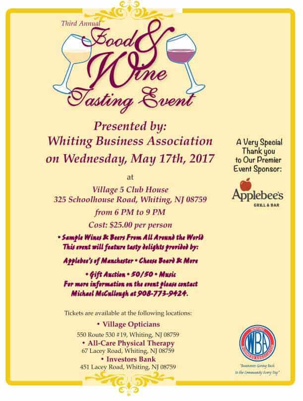 Whiting Business Association Food & Wine Tasting Event