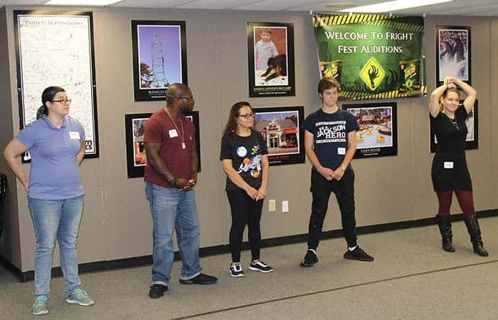From Left Five People Audition For Roles As Zombies In Fright Fest At Great Adventure From Left Angela Daurie 29 Of Kenilworth John Cooper 38