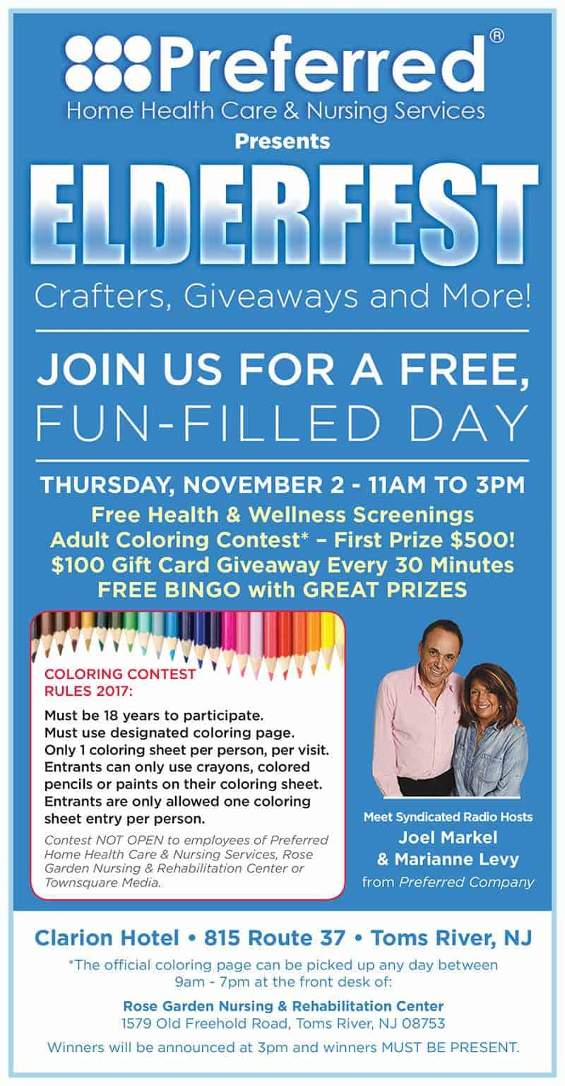 Giveaways Coloring Contest More At Preferred S Elderfest