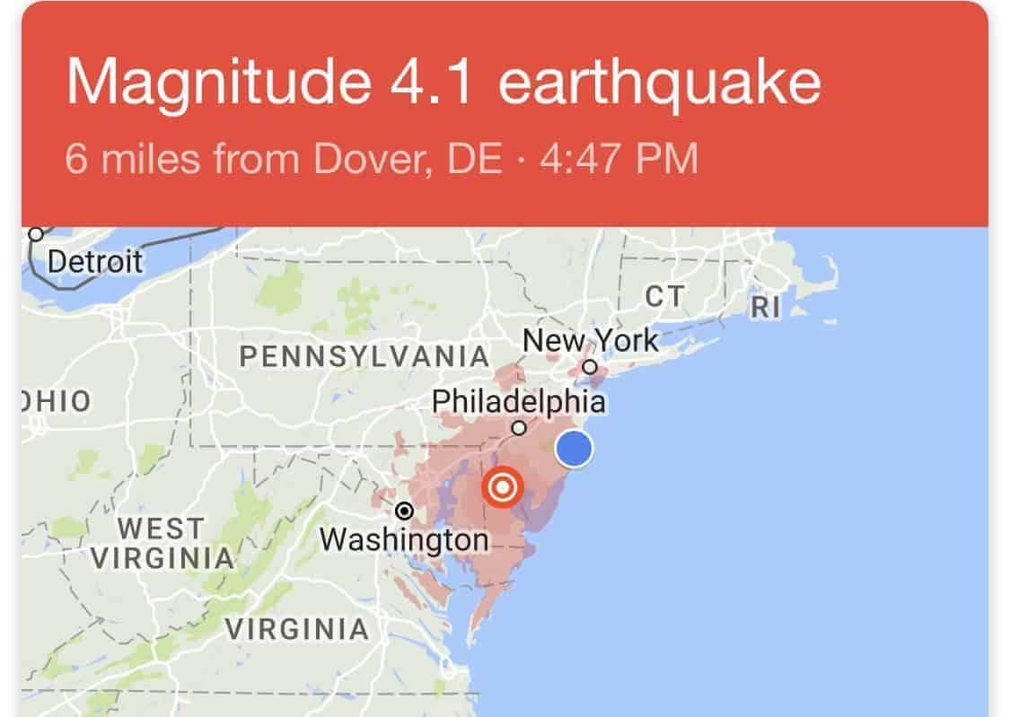 DE  4.1-magnitude quake  rattles Mid-Atlantic region