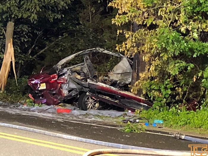 Bellefonte Police Car Crash