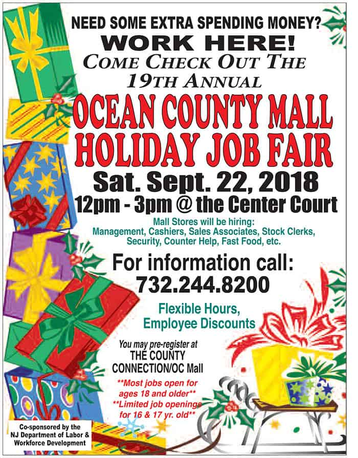 Ocean County Mall To Hold Holiday Job Fair Jersey Shore Online