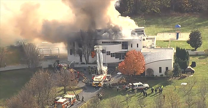 Two Kids, Two Adults Dead at Scene of Mansion Fire