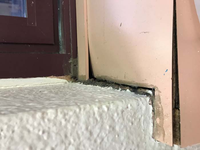 The district shared pictures of facilities in disrepair. (Photo courtesy Toms River schools)
