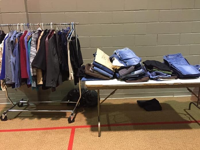 There was a table specifically for denim jeans at the Toms River Presbyterian Church during last year's survey. (Photo by Kim Bosco)