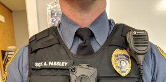All uniformed officers will be wearing body cameras that will record all interactions with the public while on duty. (Photo courtesy Barnegat Police Department)