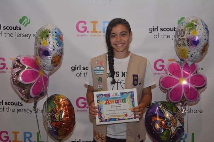 ): In 2018, Marisa Brandon, a 10th Grade Girl Scout from Howell sold 5,021 boxes of Girl Scout Cookies, over 2,000 more than any other Girl Scout in Monmouth or Ocean County. (Photo courtesy Girl Scouts of the Jersey Shore)