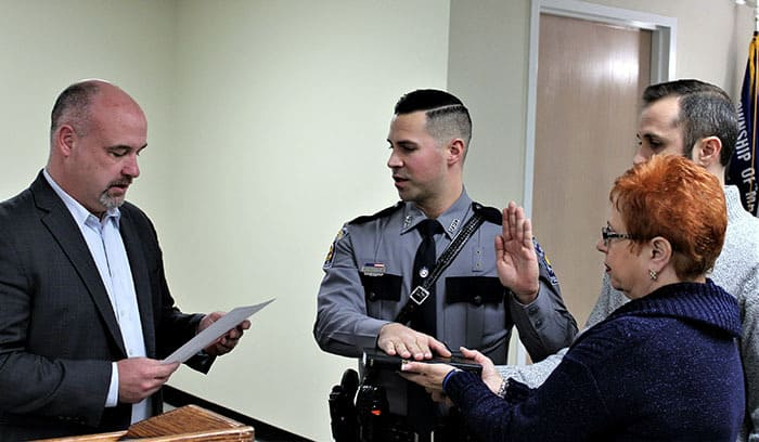 Robert Campolei was hired as a full-time police officer. (Photo courtesy Manchester Township)