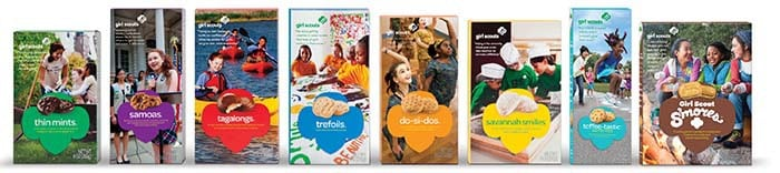 Girl Scouts begin selling Girl Scout Cookies in Monmouth and Ocean counties Friday, January 11.