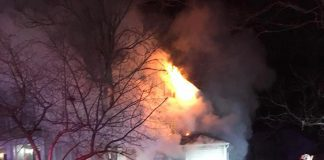 The Ocean Avenue fire reportedly displaced 10 residents. (Photo courtesy The Lakewood Scoop)