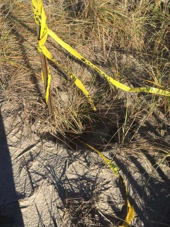 Sinkholes are forming in areas around the borough. (Photo courtesy Mantoloking Police Department)