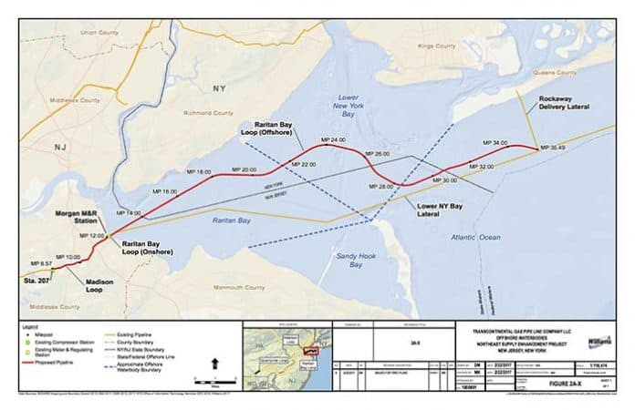 A map of the proposed pipeline. (Map courtesy http://northeastsupplyenhancement.com)