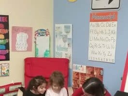 The children were able to talk about what they want to be when they grow up with special visitors and professionals that came in to talk about their own careers. (Photo courtesy Goddard School)