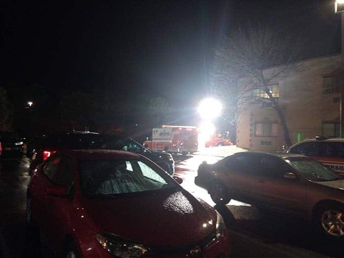 Emergency crews worked to evacuate about 30 first-floor residents from the facility. (Photo courtesy Jersey Sure News Network)
