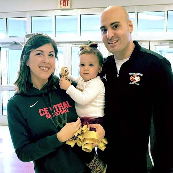 Central coach Mike Clemente credits his wife, Allison, and daughter, Emily, for their roles in his recovery from cancer. (Photo courtesy of Maureen Clemente)