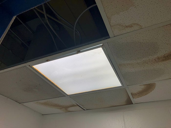 Cracked walls, leaking ceilings, and other issues will be repaired. (Photo courtesy Toms River Schools)
