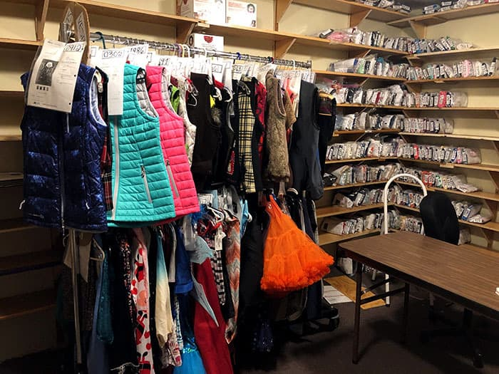 These clothes hanging in the Ebay store will be sold to fund the services. (Photo by Judy Smestad-Nunn)