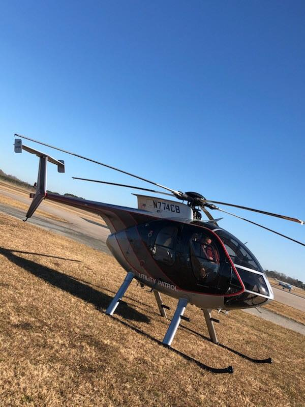 A Black, Hughes MD500, number N774CB. (Photo courtesy JCP&L)