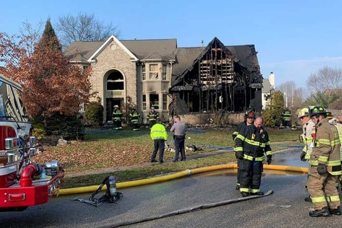 The Toms River First Aid Squad is coming together to help the Golembeski family after their house was destroyed by an accidental fire on Dec. 13, 2018. (Photo courtesy GoFundMe)