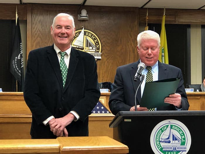 Sean Kinnevy was honored by Mayor John Ducey upon his retirement. (Photo by Judy Smestad-Nunn)