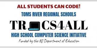 TRCS4All is a NJDOE-funded program, in partnership with Ocean County College, that will give Toms River Regional Schools students a head start in meeting anticipated state requirements for computer science. (Graphic courtesy TRRSD)