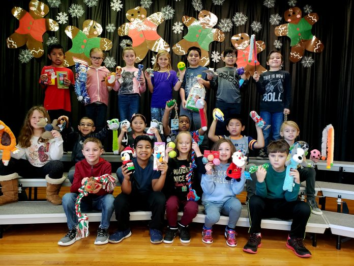 So far, second grade students in Mrs. Trembulak's class, with help from gifted and talented teacher Mrs. Avenoso, have raised over $400. (Photo courtesy Berkeley Township School District)