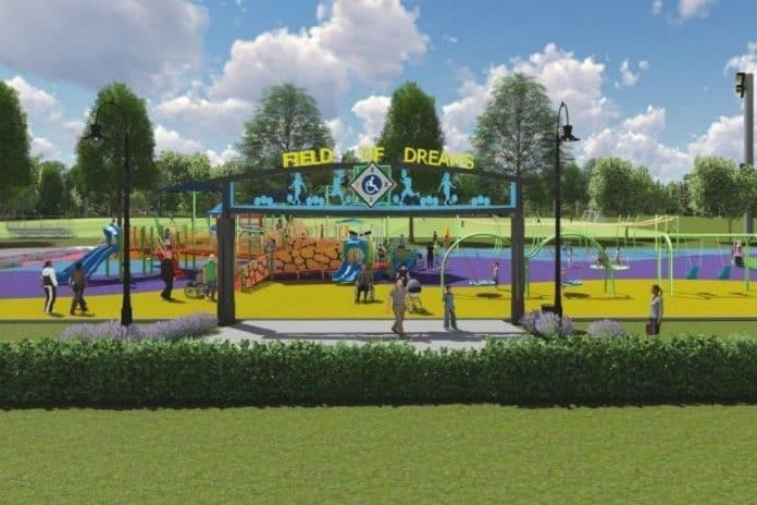 These renderings show what Field of Dreams might look like. (Photo courtesy Field of Dreams)