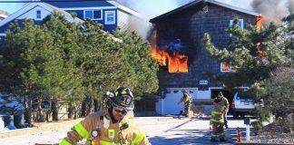 A fire tore through a Holgate home Thursday. (Photo courtesy Arthur McLaughlin)