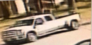 Police released these photos of this white pick-up truck, the suspected vehicle. (Photo courtesy Howell Police)