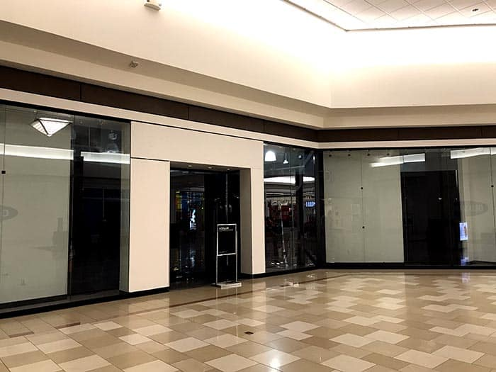 Some shops inside the Ocean County Mall are currently vacant. (Photo by Chris Lundy)