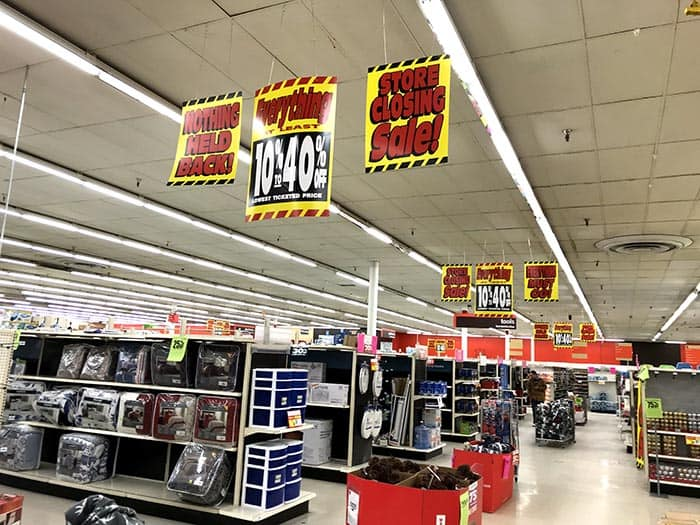 There were few items on the shelves – and few customers - during Kmart's final sales. (Photo by Chris Lundy)