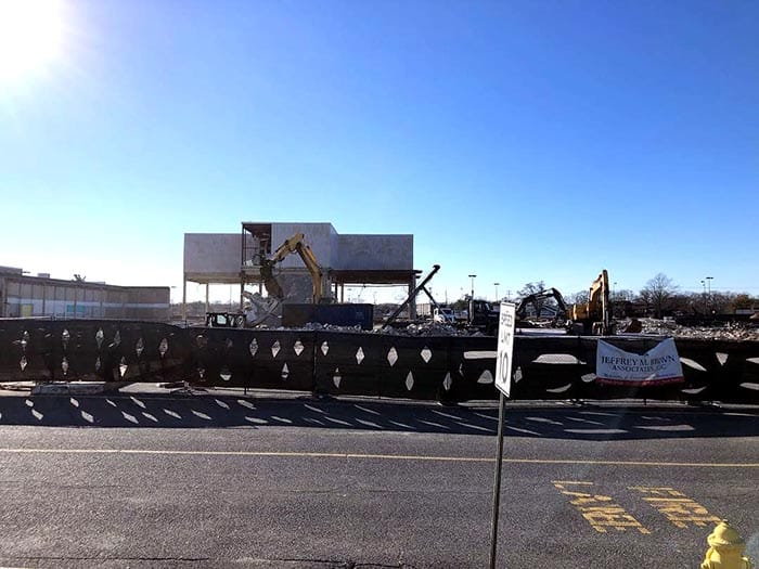 The Sears building was being demolished recently. (Photo courtesy Ocean County Scanner News)