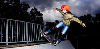 Paige Luyster, 13, skates at the Jackson location. (Photo courtesy Sean Brady from Grit & Grace Skate)