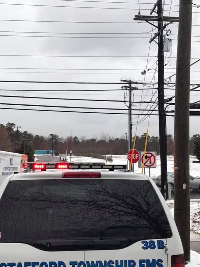 There is no left turn onto Route 72 from Barnacle Drive. (Photo courtesy Stafford Township Emergency Medical Services)