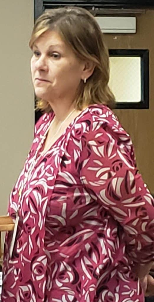 Jackson School District Director of Transportation Susan Spence speaks to members of the School Board about the needs and challenges of her department during a recent school board meeting. (Photo by Bob Vosseller)