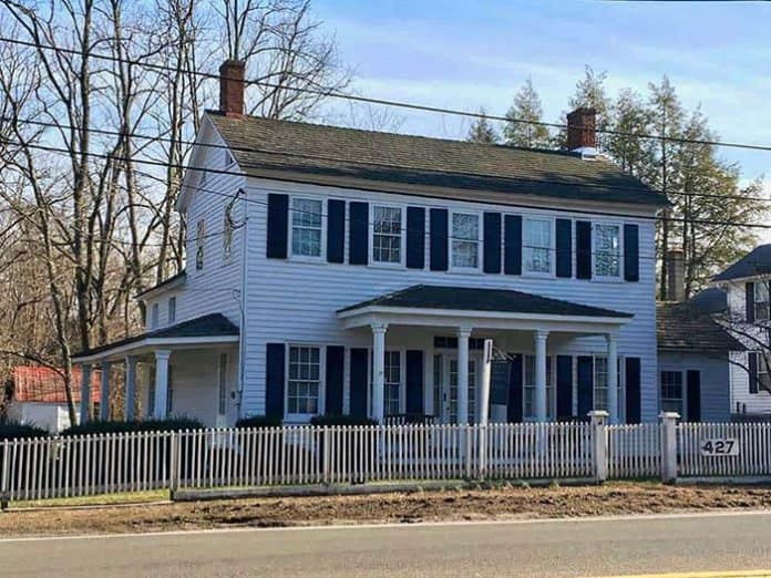 The MacKenzie House on Lakewood-Farmingdale Road is a historical landmark that people in the community would like to see restored. (Photo by Micromedia Publications)