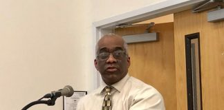 Earl Moseley, the district's Harassment, Intimidation and Bullying coordinator, said bullying incidents have dropped from 53 during the 2017-2018 school year (across all schools) to 16 for the 2018-2019 school year. He credits the drop to staff training. (Photo by Judy Smestad-Nunn)