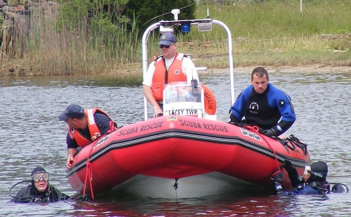 The LTURR was formed back in the late 1970s when a young boy fell into a lagoon and the Lacey Twp. Fire Company responded but had to wait, helpless, until an underwater rescue team arrived from Tom's River. (Photo courtesy LTURR)