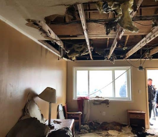 These photos show the state of disrepair in the hotel. (Photo courtesy Toms River Township)