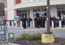 Stop & Shop was evacuated while crews attended to the compactor fire. (Photo courtesy OCSN)