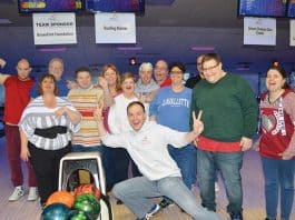 The Arc Ocean County Chapter raised over $31,000 at this year's Bowl-A-Thon & Gift Auction. (Photo courtesy Arc of Ocean County)