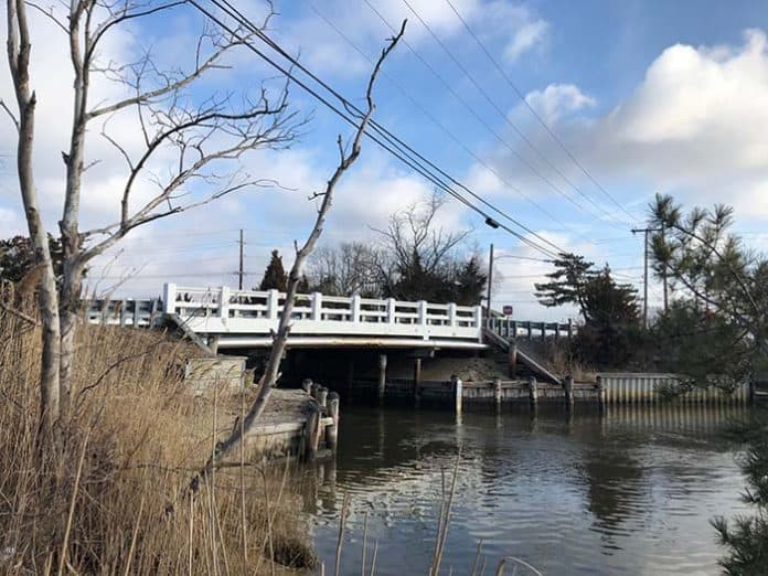 In Stafford, the bridge will be one on Morris Boulevard that crosses a lagoon on the way to the Barnegat Bay. (Photo by Chris Lundy)