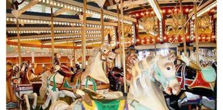 The historic Dr. Floyd L. Moreland Dentzel/Loof Carousel. (Photo courtesy Seaside Heights Borough)
