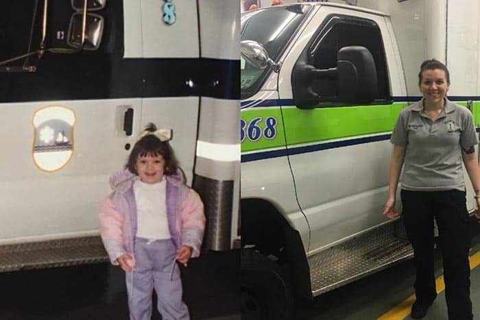Clearly, the First Aid Squad has been part of Megan Franzoso's life for a long time. (Photo courtesy GoFundMe)