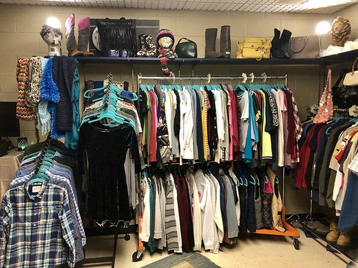 The McAuliffe Middle School recently opened its own Vintage Shop based within its school library. (Photo courtesy Jackson Township School District)
