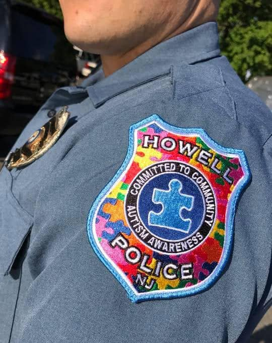Howell Police are doing their part to spread awareness with a specially designed Autism Awareness Day patch. (Photo courtesy Howell Police)