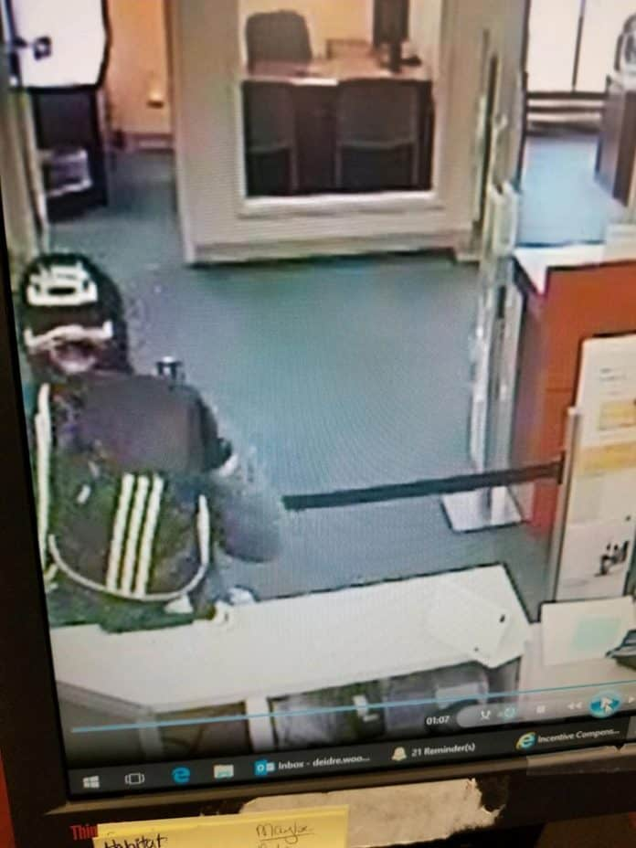 He was described as being about 6 feet tall, average build. He was wearing a black mask, black gloves, sunglasses, black baseball cap and dark colored sweatshirt. (Photo courtesy Manchester Township Police)