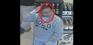 Surveillance footage this individual removing one item from a shelf and leaving the store without paying for it. (Photo courtesy Barnegat Police)