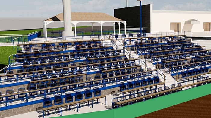 In this rendering, management has revamped the picnic areas at FirstEnergy Park. (Photo courtesy Lakewood BlueClaws)