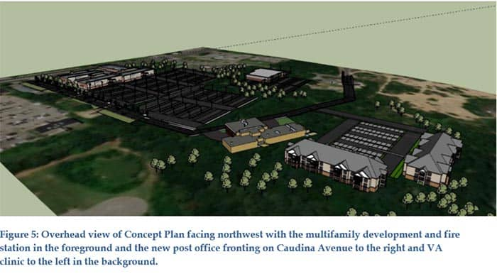 These renderings show possibilities for the redevelopment of the area. (Image courtesy Toms River)